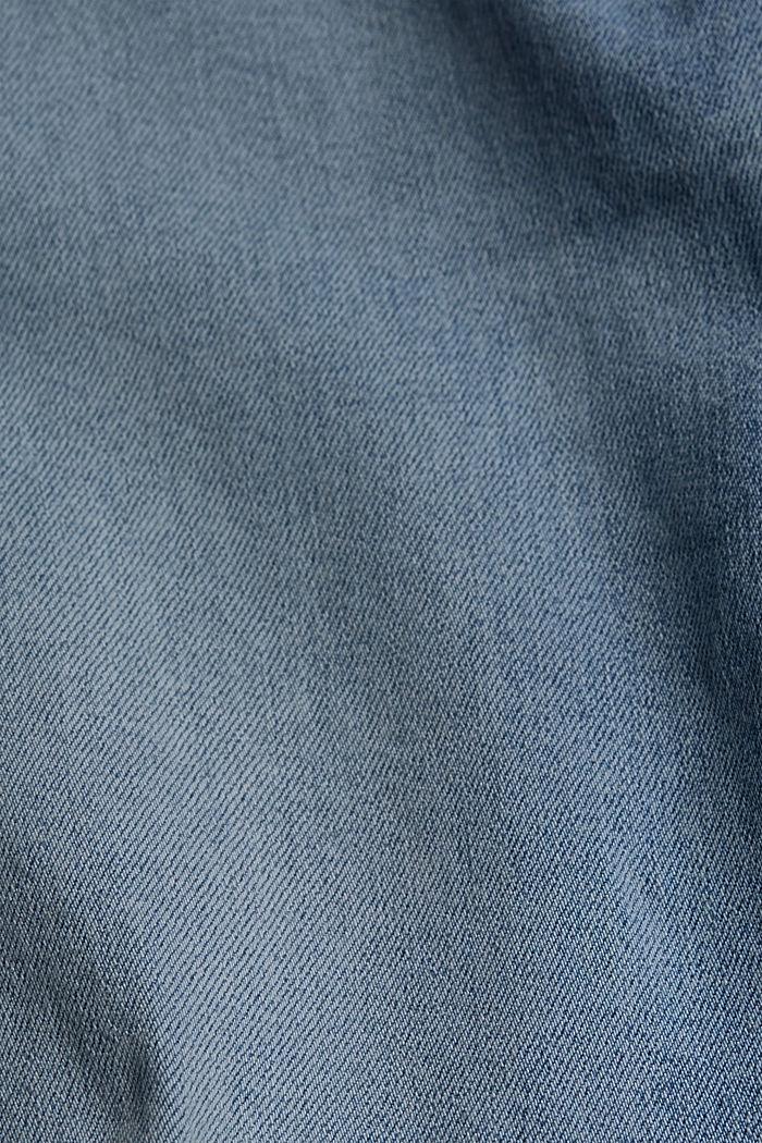 Stretchjeans van biologisch katoen, BLUE LIGHT WASHED, detail image number 4