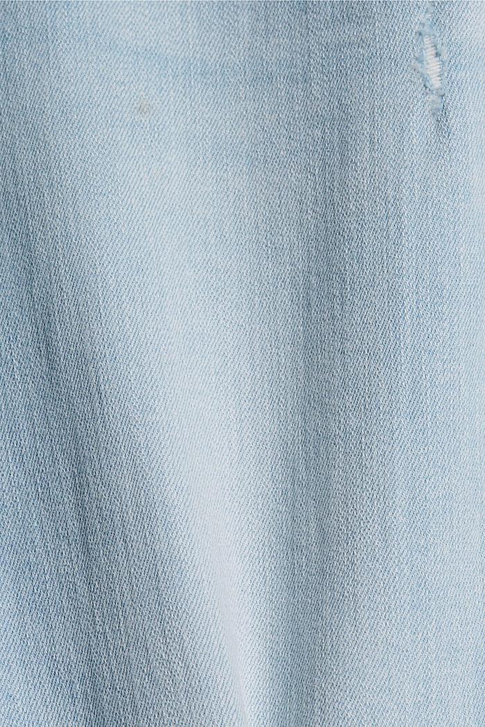 Jean stretch destroy à teneur en coton biologique, BLUE BLEACHED, detail image number 4