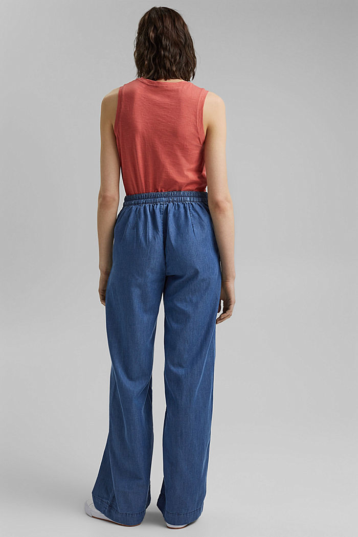 In TENCEL™/cotone biologico: jeans a vita ampia, BLUE MEDIUM WASHED, detail image number 3