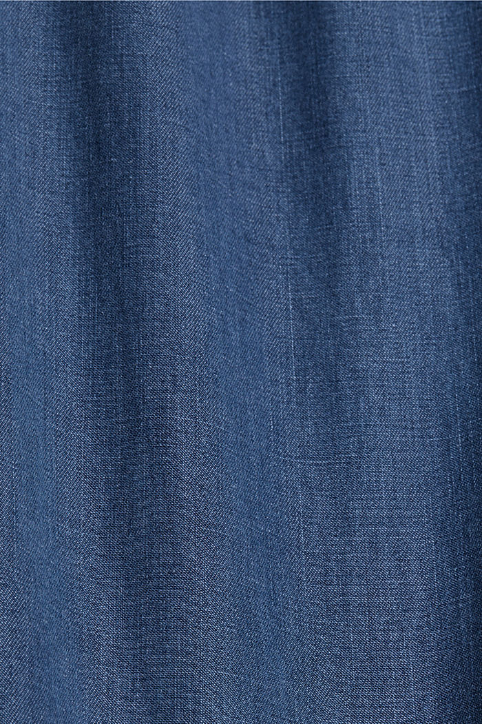 In TENCEL™/cotone biologico: jeans a vita ampia, BLUE MEDIUM WASHED, detail image number 4
