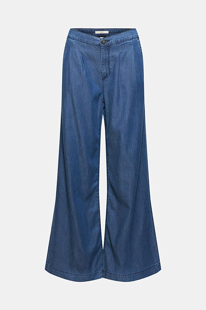 Aus TENCEL™/Bio-Baumwolle: weite Jeans-Hose