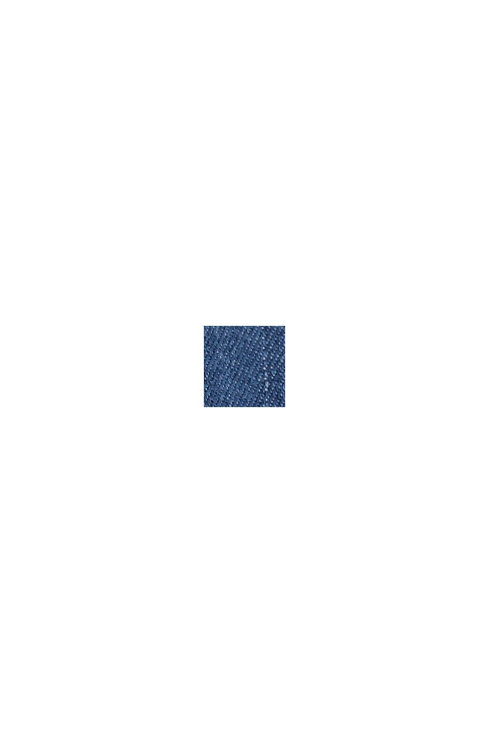 Aus TENCEL™/Bio-Baumwolle: weite Jeans-Hose, BLUE MEDIUM WASHED, swatch