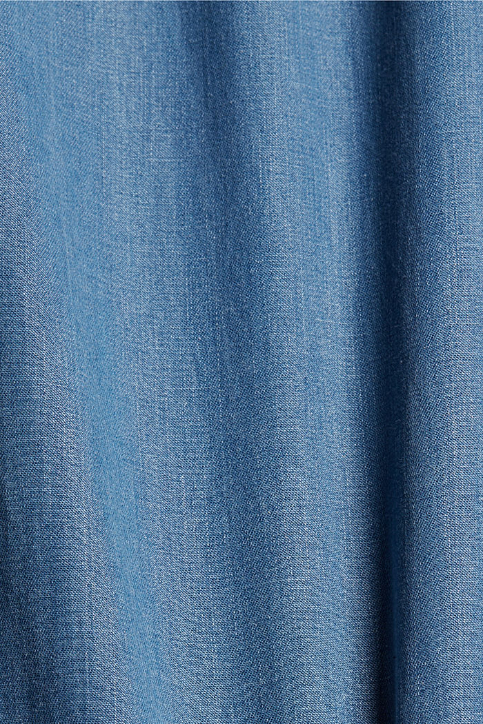 Made of TENCEL™/organic cotton: wide jeans, BLUE LIGHT WASHED, detail image number 4