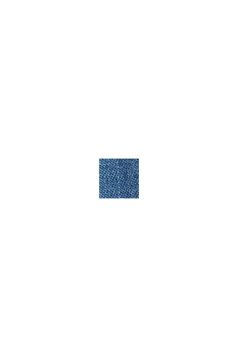 Aus TENCEL™/Bio-Baumwolle: weite Jeans-Hose, BLUE LIGHT WASHED, swatch