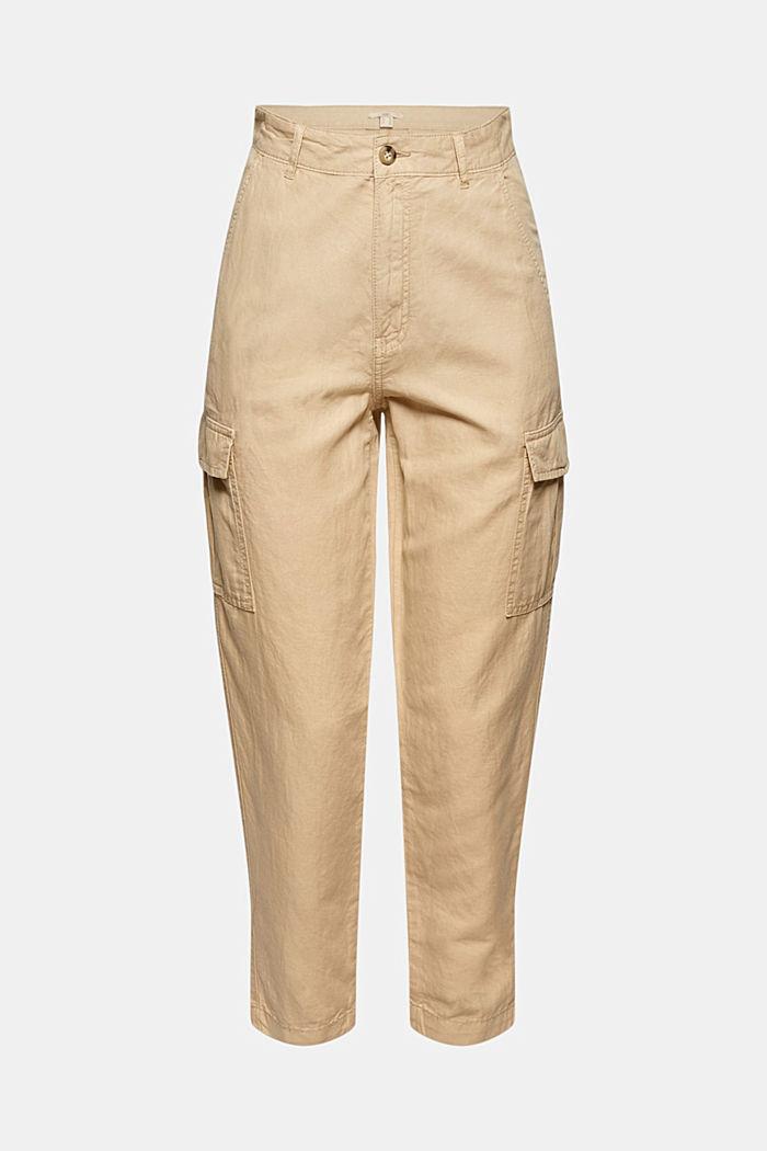 En lin mélangé: pantalon cargo