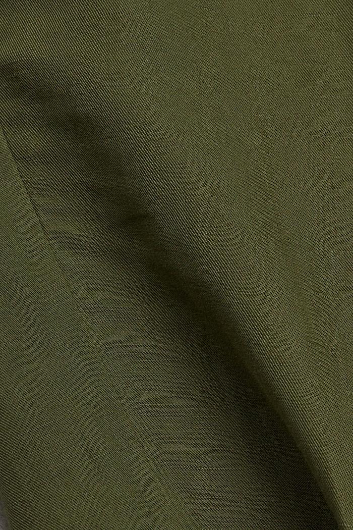 Aus Leinen-Mix: Cargo-Pants, KHAKI GREEN, detail image number 4