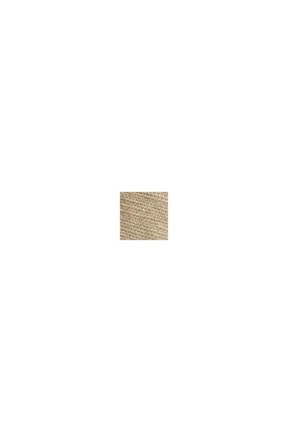 Aus Leinen/Bio-Baumwolle: Culotte mit Gürtel, BEIGE, swatch