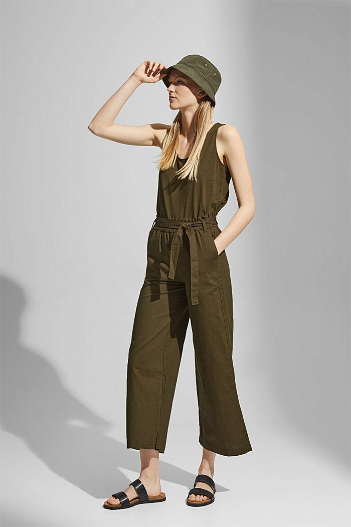 Van linnen/biologisch katoen: culotte met ceintuur