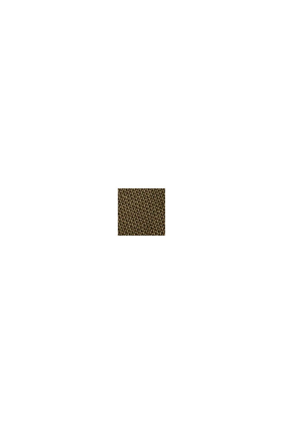 I linne/ekobomull: Culottebyxa med skärp, KHAKI GREEN, swatch