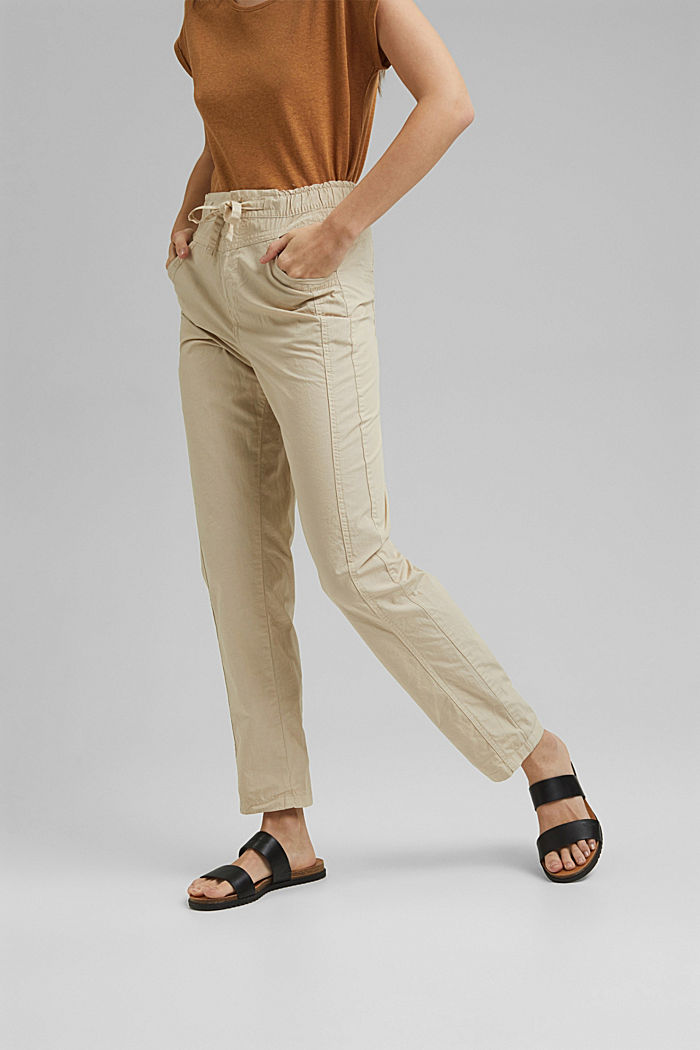 PLAY trousers made of 100% organic cotton, BEIGE, detail image number 0