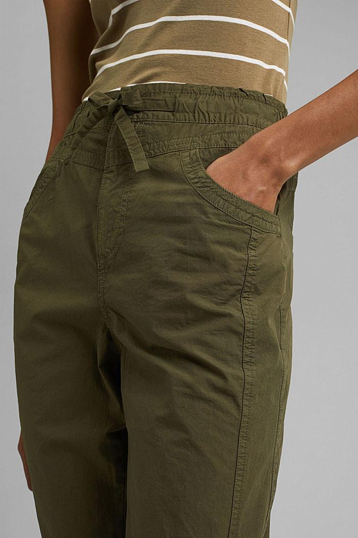 PLAY broek van 100% biologisch katoen, KHAKI GREEN, detail image number 2