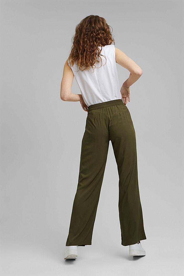Pantalon ample à ceinture élastique, KHAKI GREEN, detail image number 3
