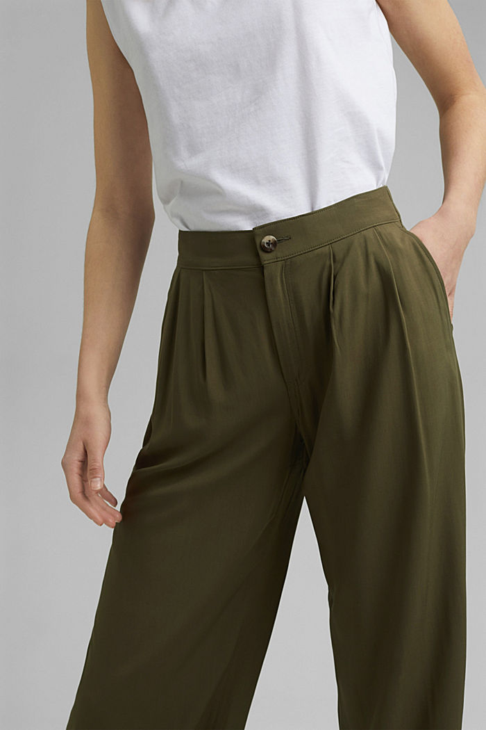 Pantalon ample à ceinture élastique, KHAKI GREEN, detail image number 2