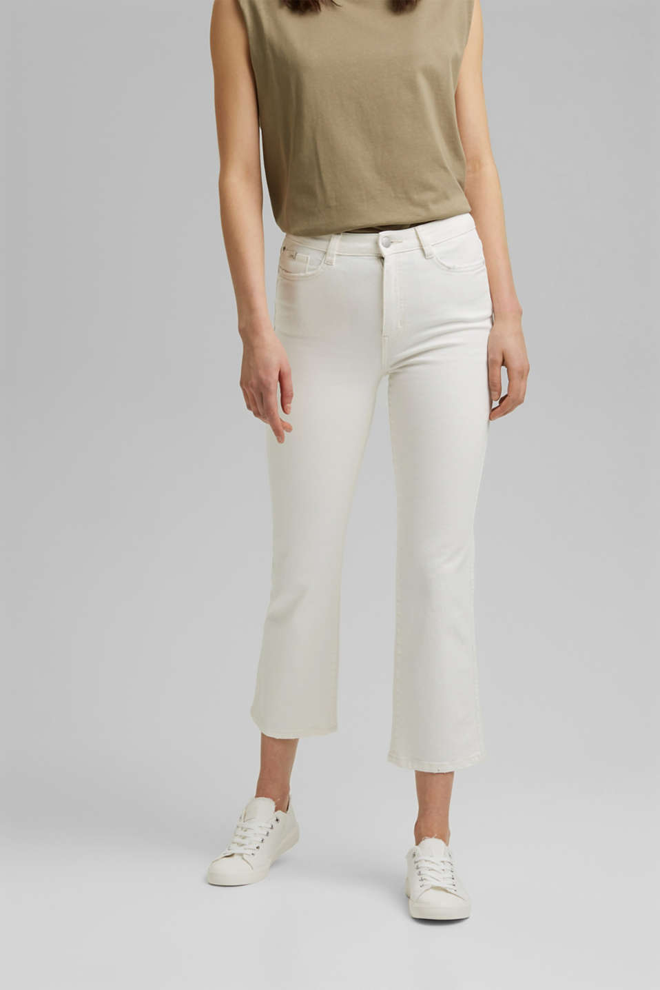 edc - Stretch trousers with a flared leg