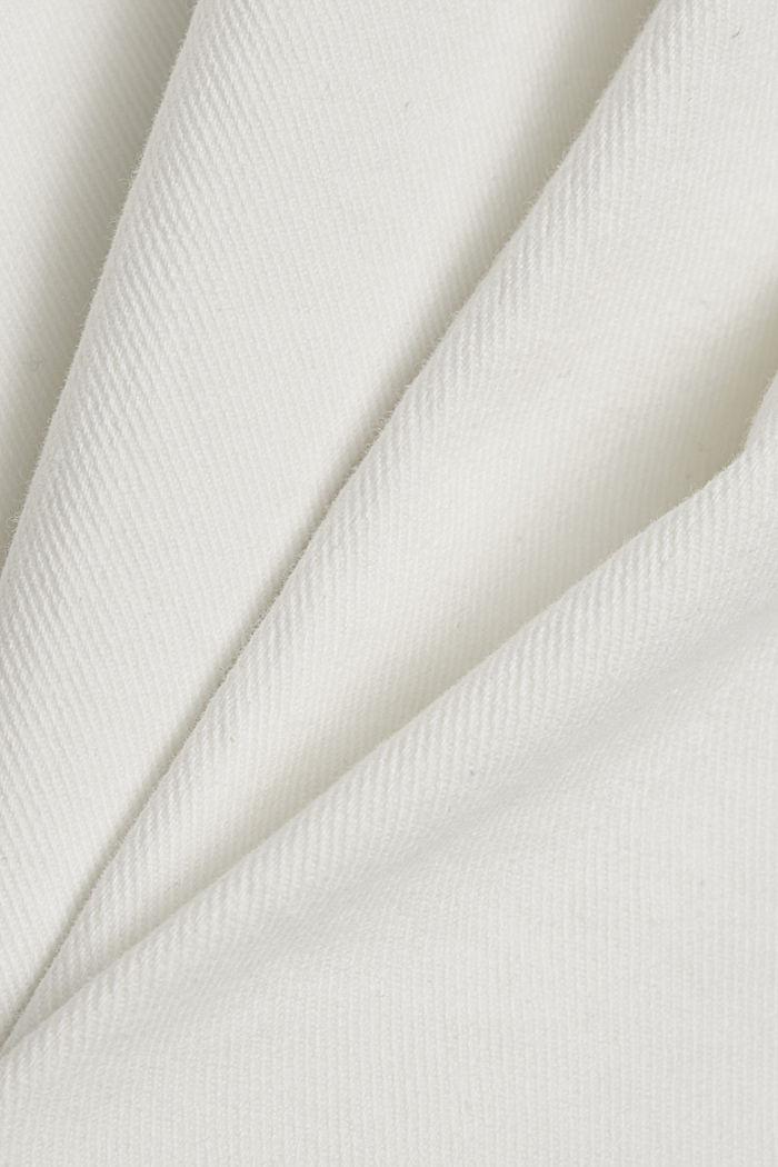 Stretchbroek met uitlopende pijpen, OFF WHITE, detail image number 4