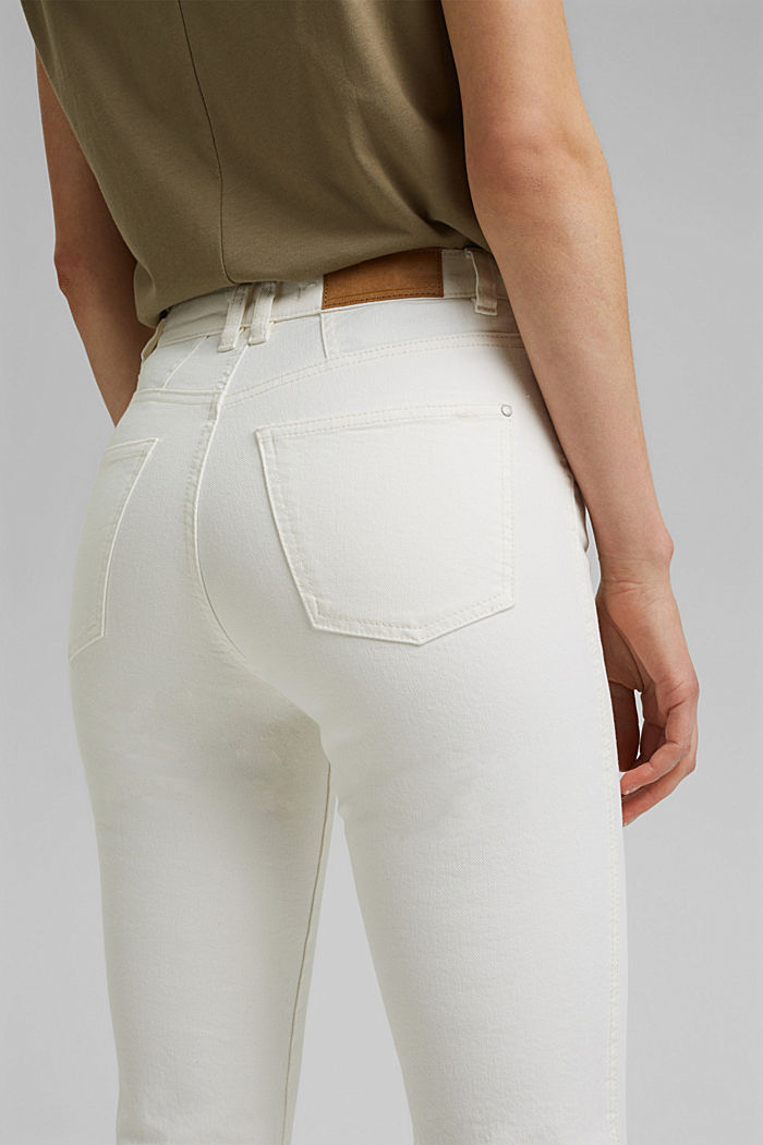 Stretch trousers with a flared leg, OFF WHITE, detail image number 5