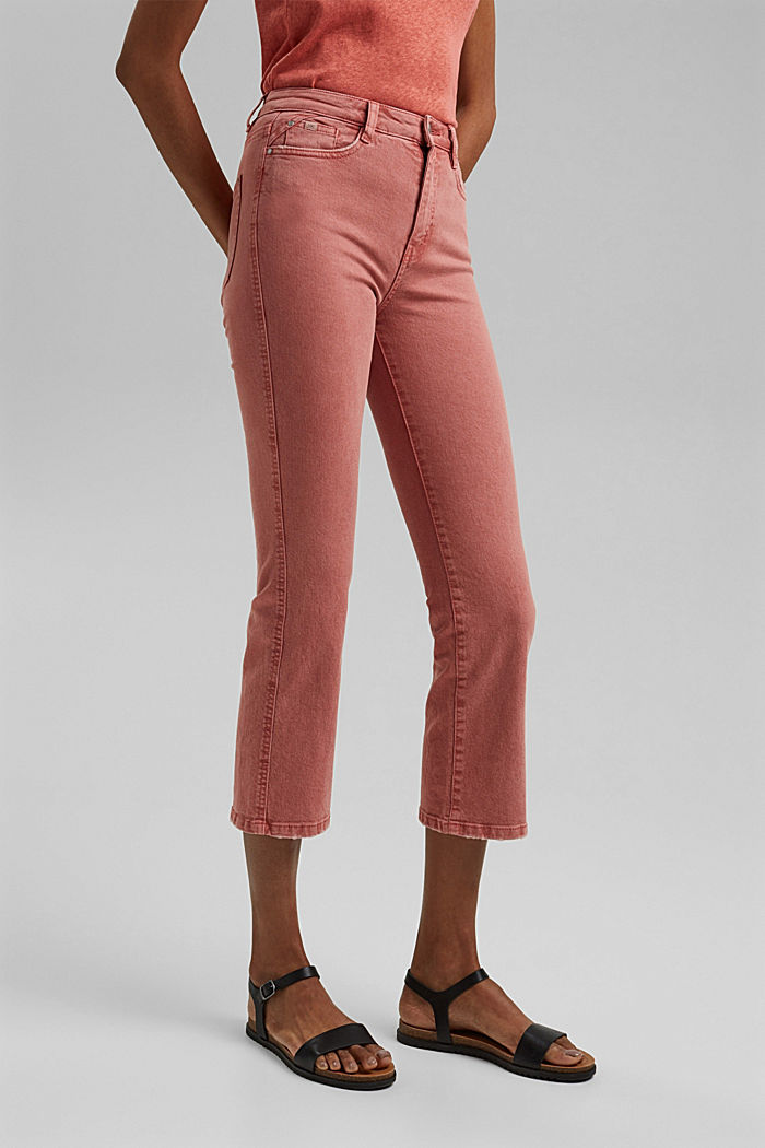 Stretch trousers with a flared leg, CORAL, detail image number 0