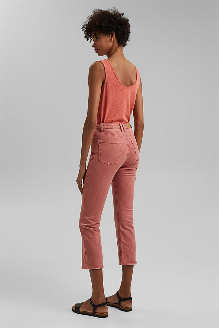 Stretch trousers with a flared leg, CORAL, detail image number 3