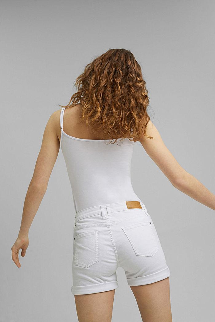 Denim shorts made of organic cotton, WHITE, detail image number 3