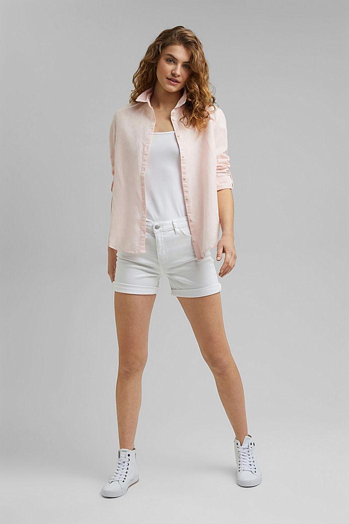 Denim shorts made of organic cotton, WHITE, detail image number 1