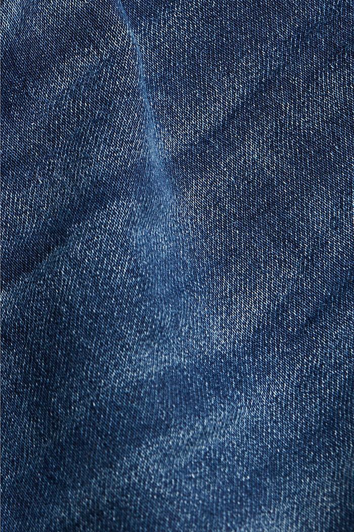 Short en jean en matière jogging, BLUE DARK WASHED, detail image number 4