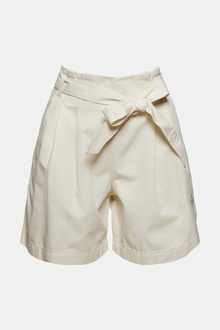 Paper bag shorts with belt, OFF WHITE, detail image number 6