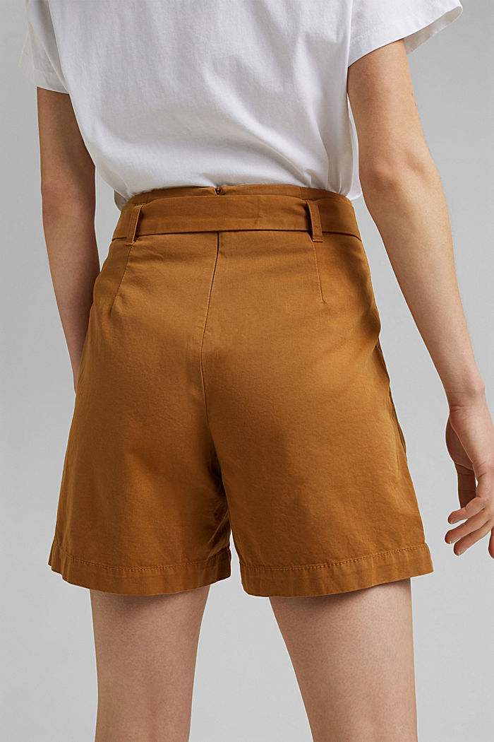 Paper bag shorts with belt, CARAMEL, detail image number 5