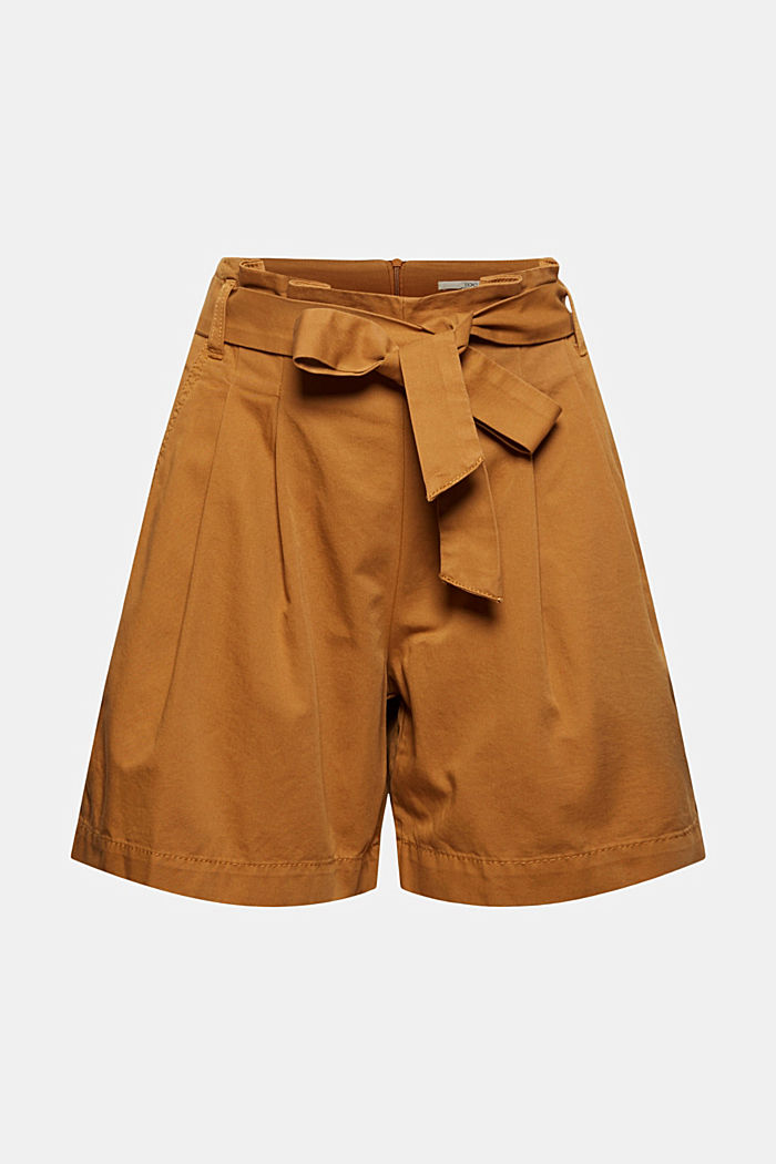 Paper bag shorts with belt, CARAMEL, detail image number 7