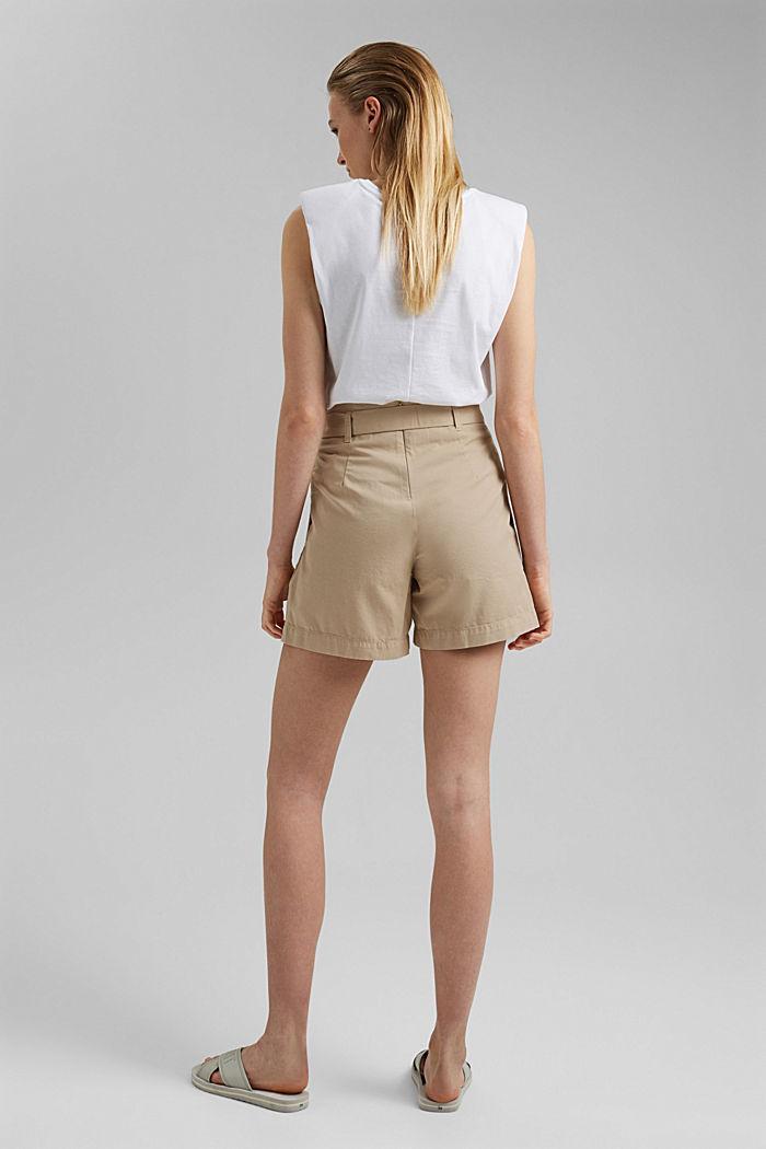 Paperbag-Shorts mit Gürtel, BEIGE, detail image number 3
