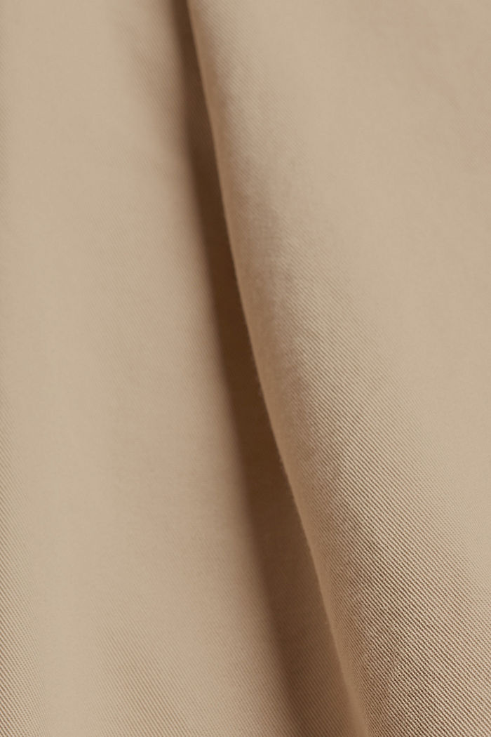 Paperbag-Shorts mit Gürtel, BEIGE, detail image number 4