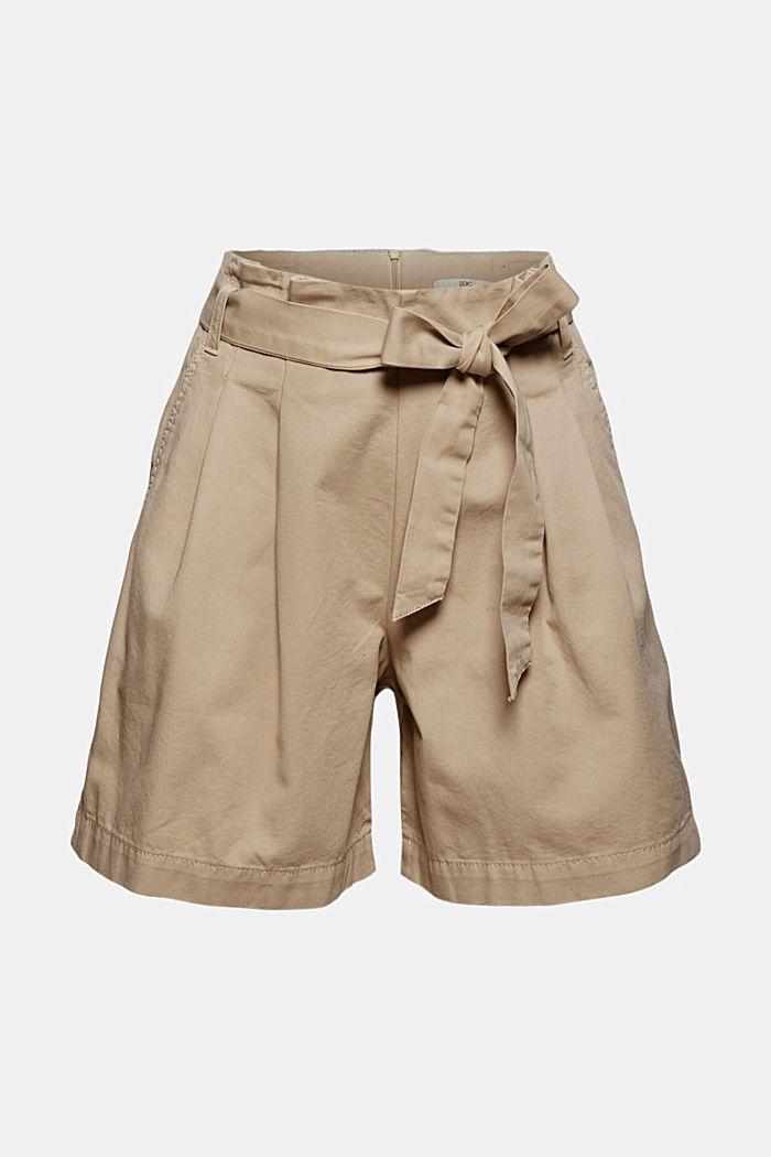 Paper bag shorts with belt