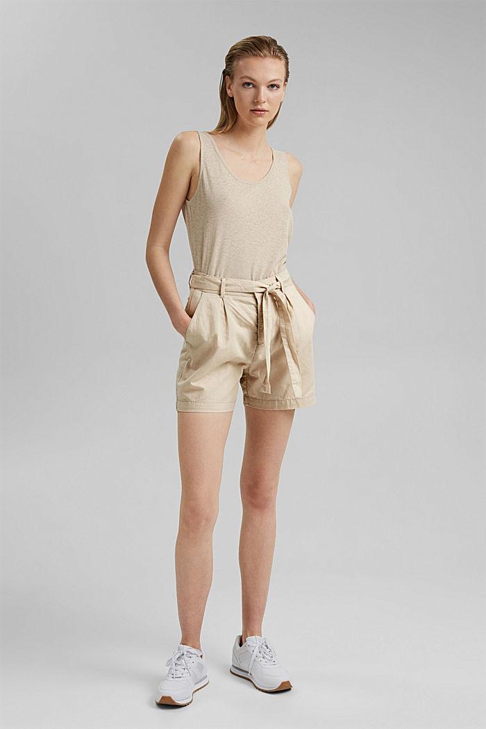 #ReimagineNaturalLifestyle: Blended linen shorts, BEIGE, detail image number 6