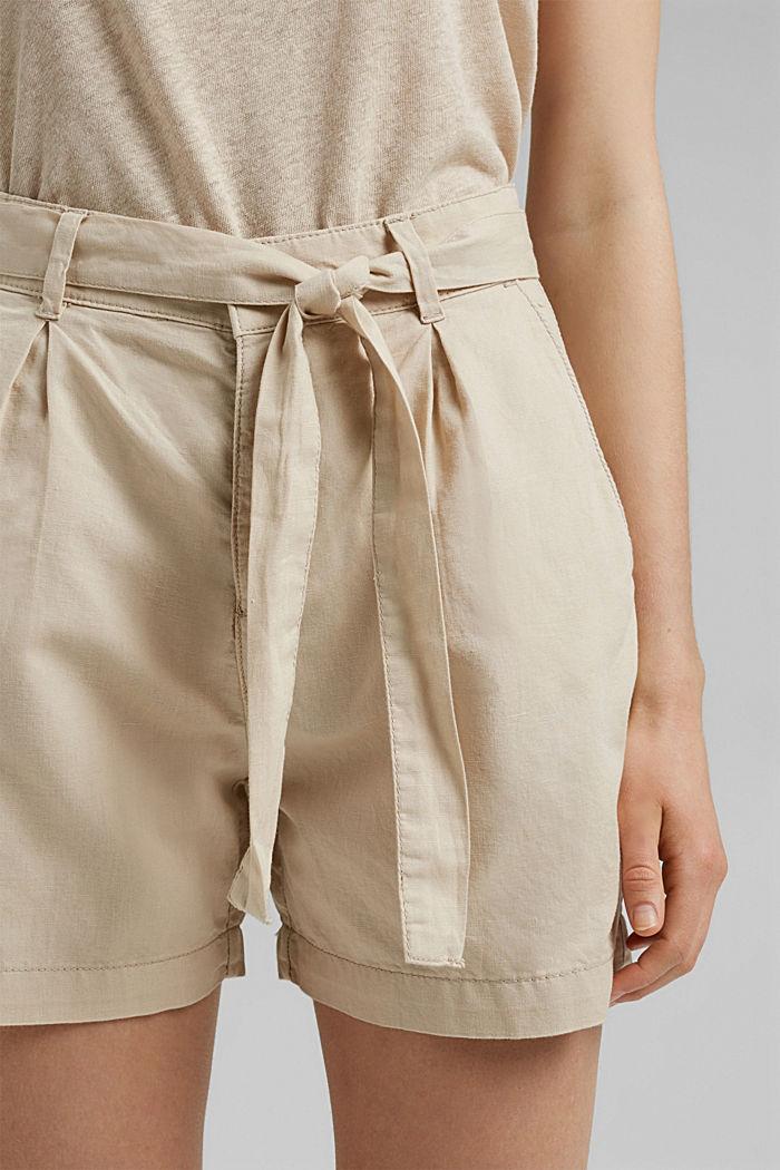 #ReimagineNaturalLifestyle: Blended linen shorts, BEIGE, detail image number 2
