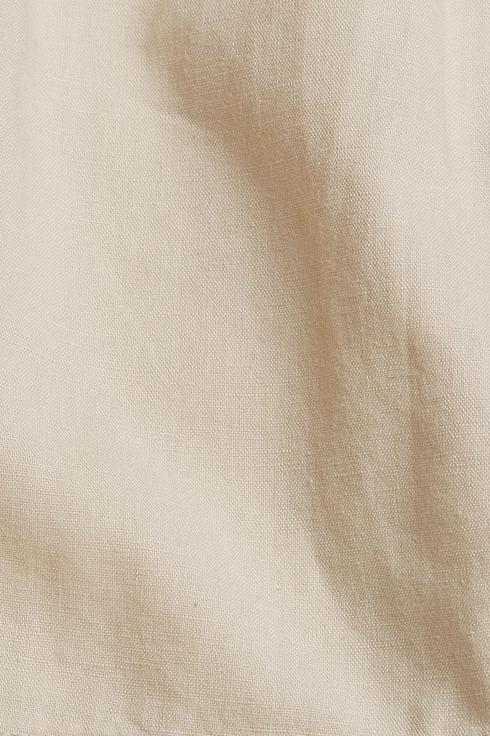 #ReimagineNaturalLifestyle: Blended linen shorts, BEIGE, detail image number 4