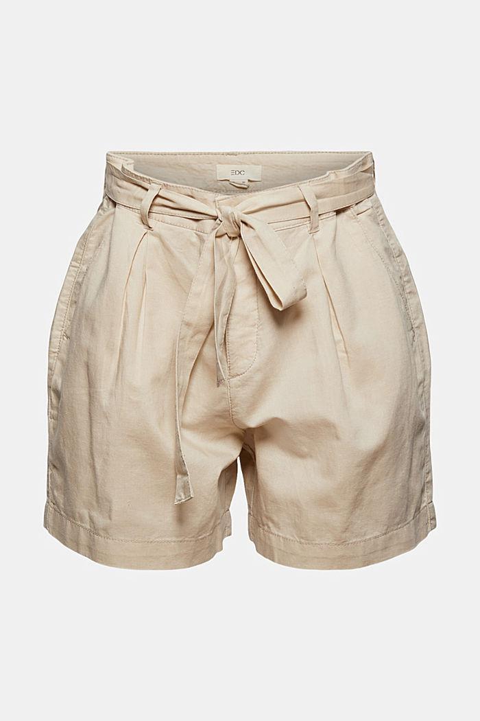 #ReimagineNaturalLifestyle: Blended linen shorts, BEIGE, detail image number 7