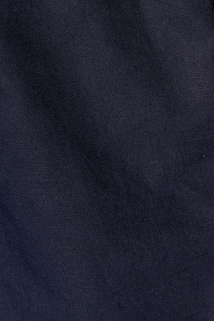 #ReimagineNaturalLifestyle: short van een linnenmix, NAVY, detail image number 4