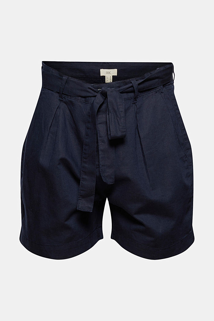 #ReimagineNaturalLifestyle: short van een linnenmix, NAVY, detail image number 5