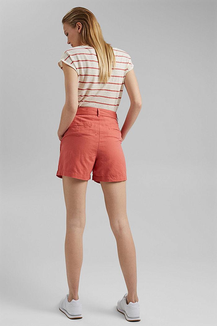 #ReimagineNaturalLifestyle: Blended linen shorts, CORAL, detail image number 3