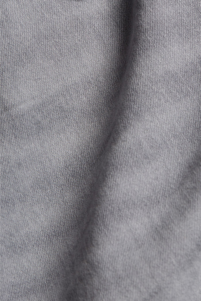 Denim shorts in tracksuit fabric, GREY MEDIUM WASHED, detail image number 4