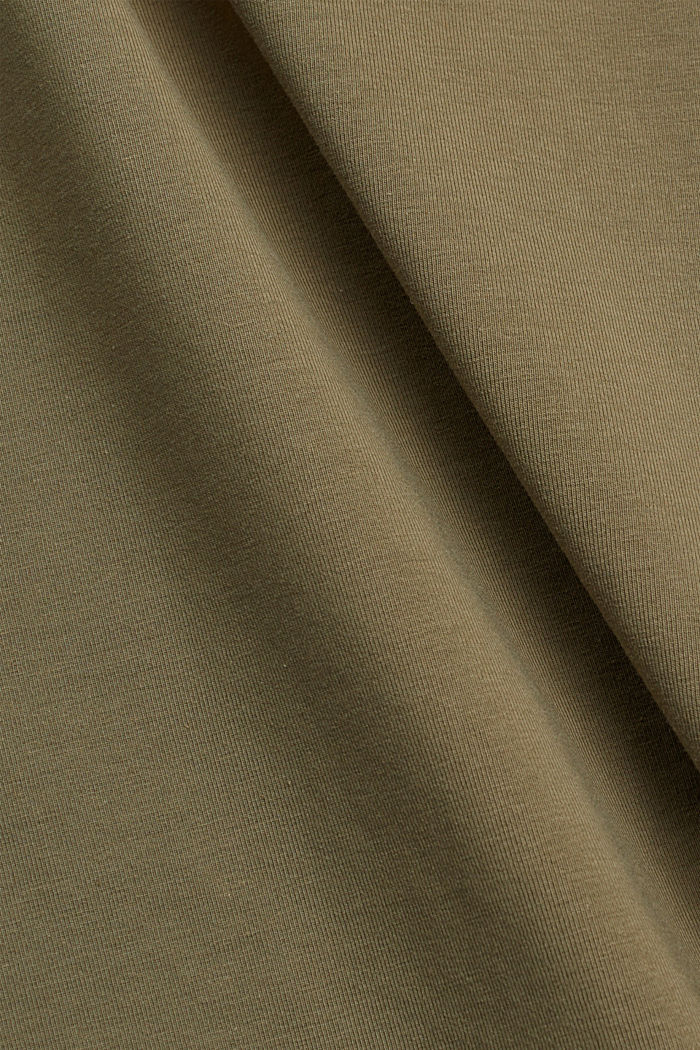 Jersey midi skirt made of organic cotton, LIGHT KHAKI, detail image number 4
