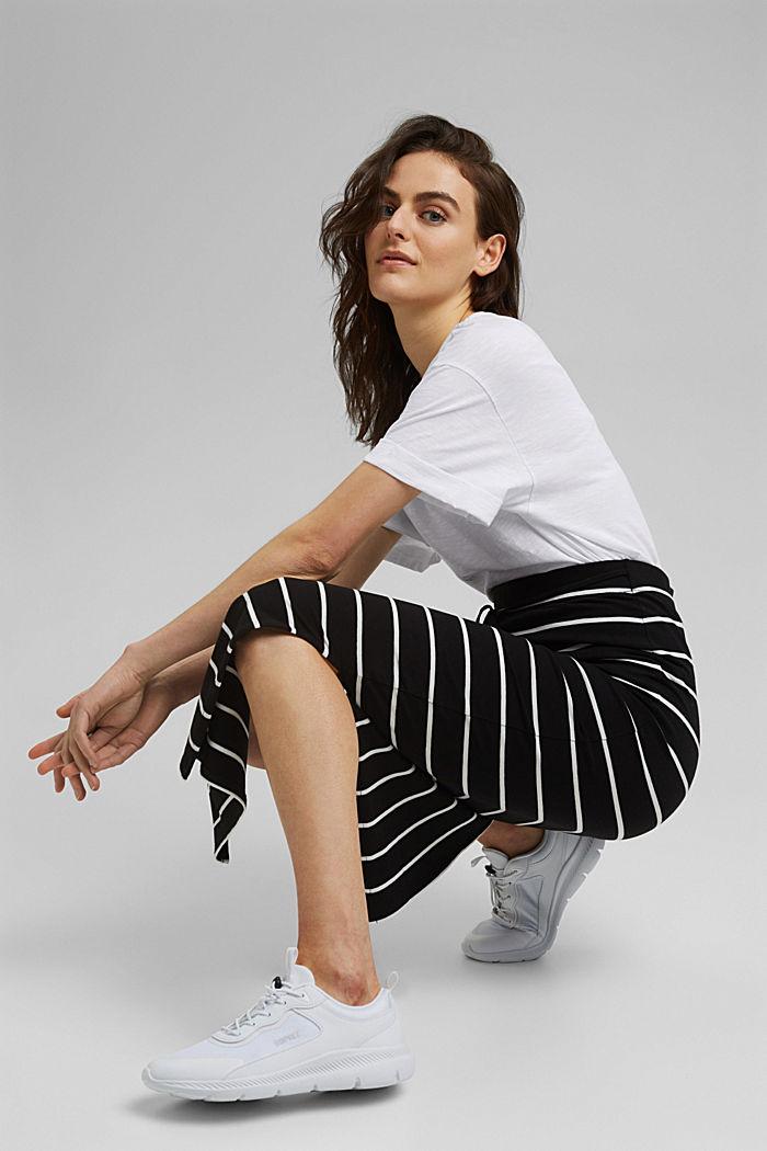 Midi skirt in jersey, organic cotton, BLACK, detail image number 5
