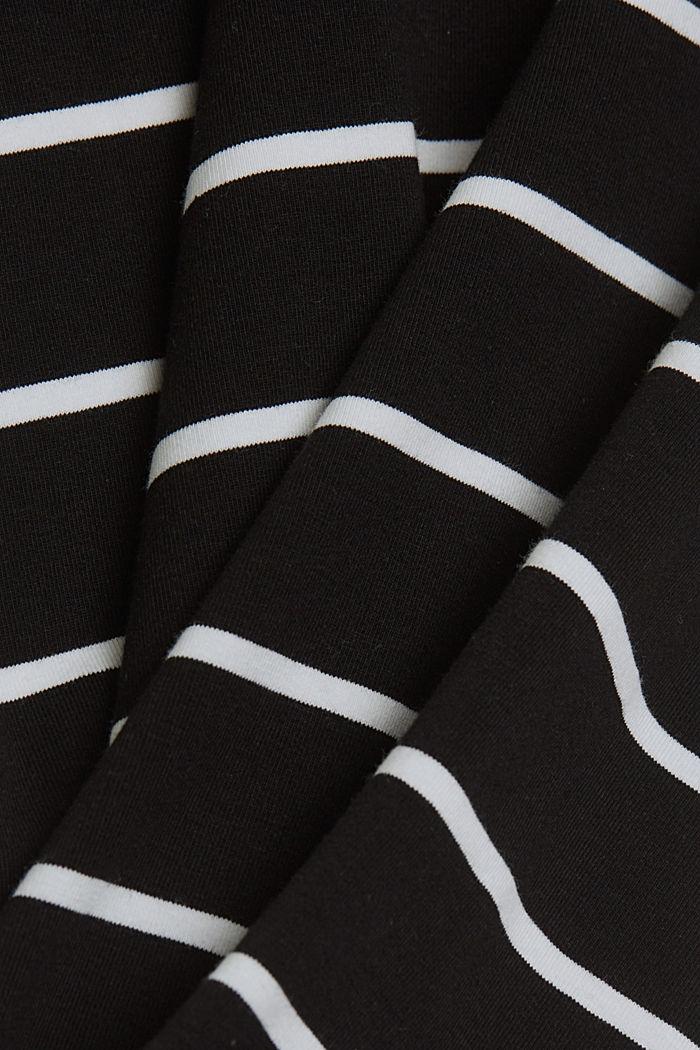 Midi skirt in jersey, organic cotton, BLACK, detail image number 4