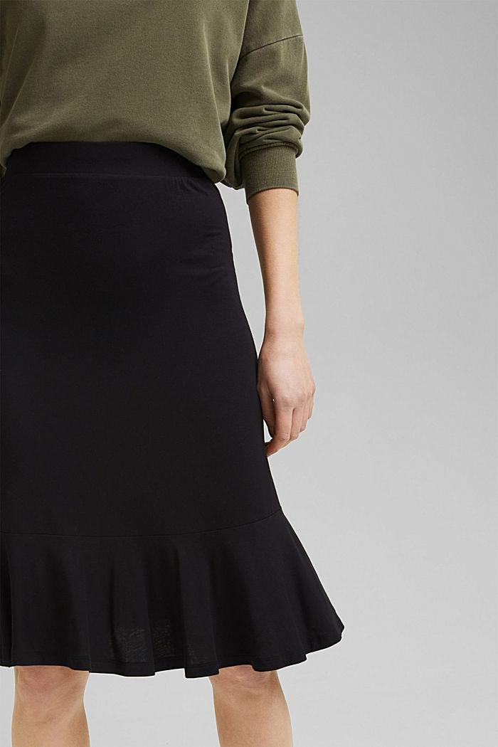 Jersey skirt made of LENZING™ ECOVERO™, BLACK, detail image number 2