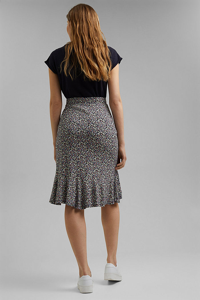 Jersey skirt made of LENZING™ ECOVERO™, NAVY, detail image number 3