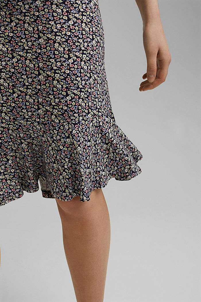 Jersey skirt made of LENZING™ ECOVERO™, NAVY, detail image number 2