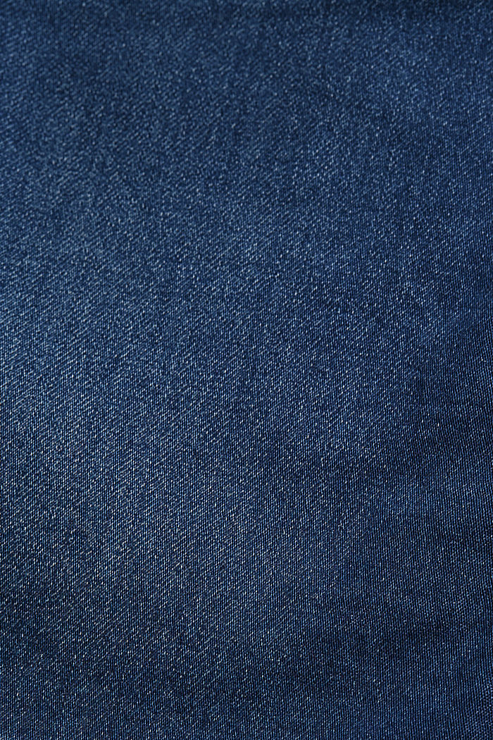 Denim skirt in sweatshirt fabric, BLUE DARK WASHED, detail image number 4