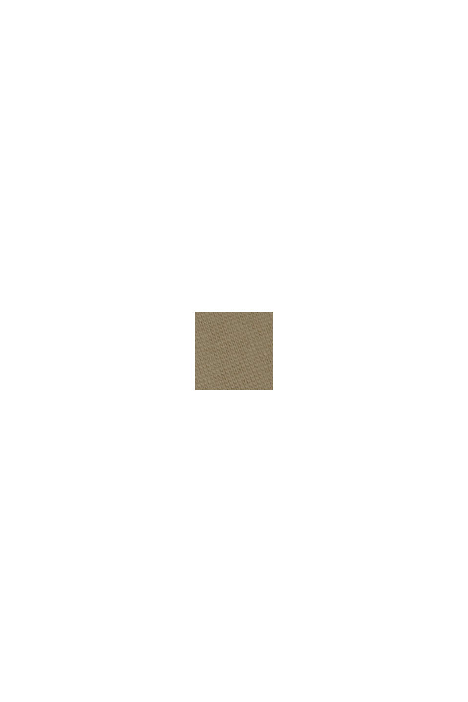 Jersey-Midikleid aus 100% Bio-Baumwolle, LIGHT KHAKI, swatch