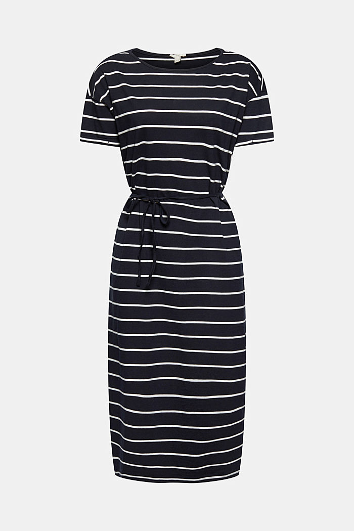 Jersey midi dress in 100% organic cotton