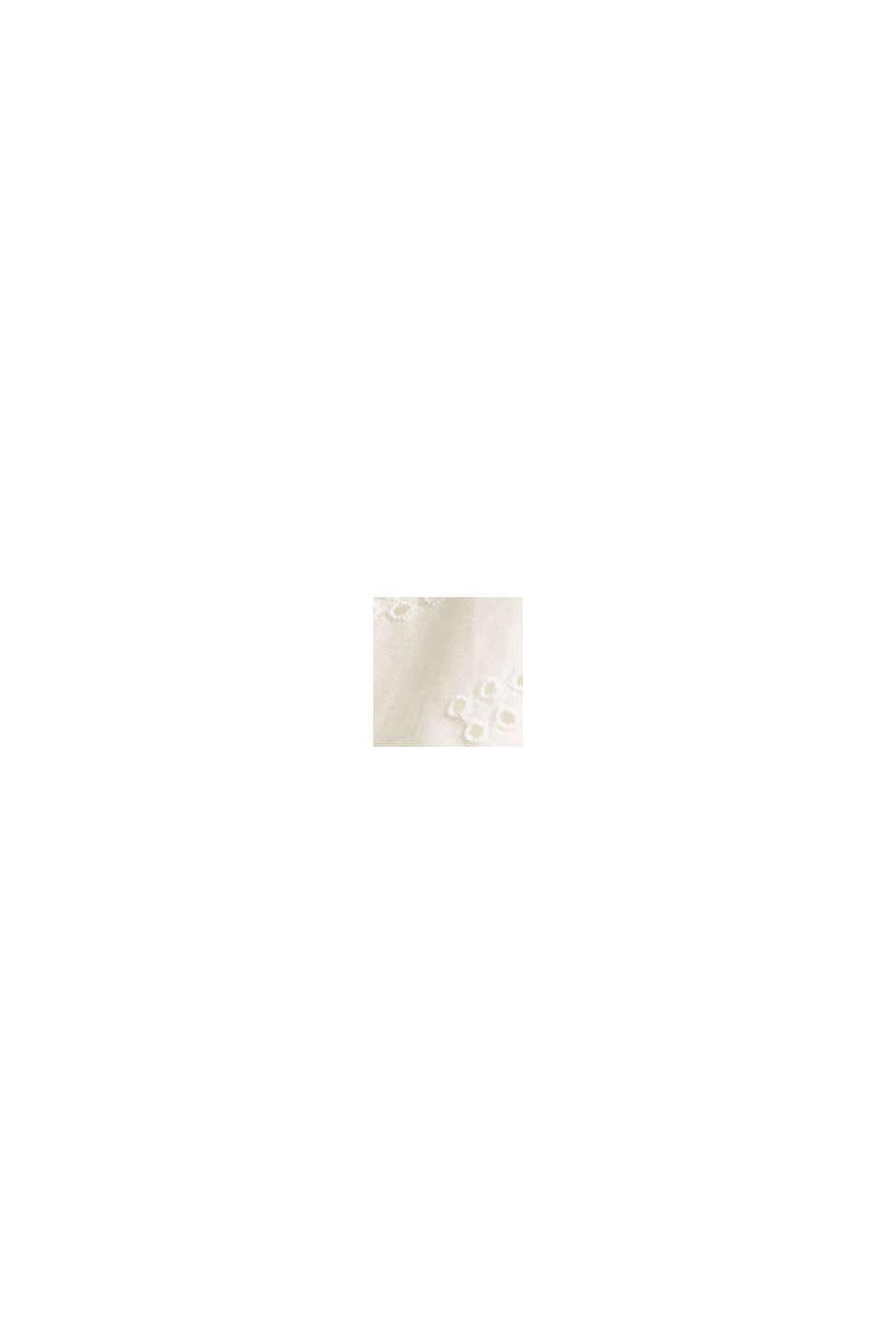 Kleid mit Lochstickerei, Organic Cotton, OFF WHITE, swatch