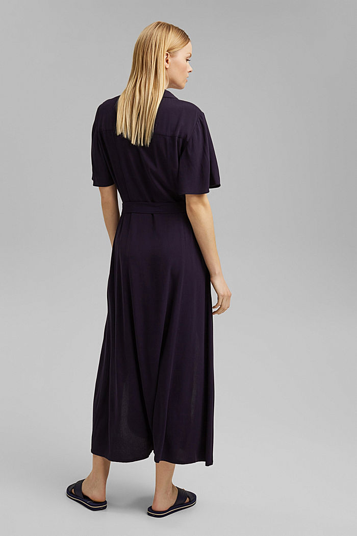Maxi dress with a belt, made of LENZING™ ECOVERO™, NAVY, detail image number 2